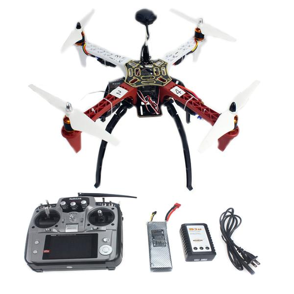 F02192-S 4-axle Aircraft RC Quadrocopter Helicopter RTF F450-V2 Frame GPS APM2.8 AT10 TX/RX Battery