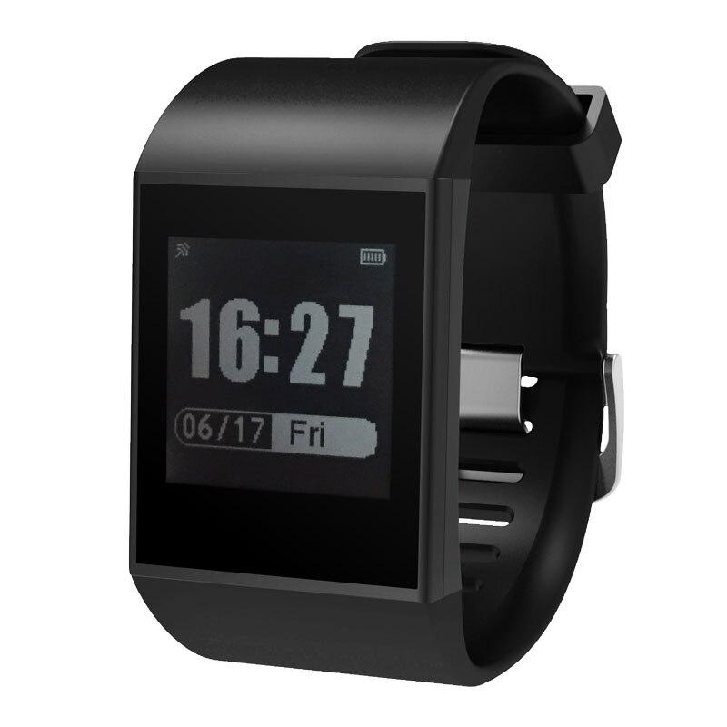 DW007 пара E-ink Smartwatch трекер Водонепроницаемый Спорт браслет Bluetooth монитор сердечного ритма многоцветный Браслет