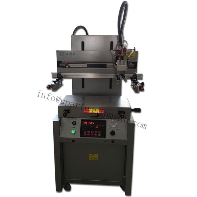 Automática de Cama Plana máquina de Impresión de Pantalla de Seda con vacío