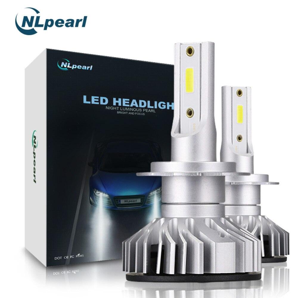 NLpearl 2018 COB Chips 2Pcs H7 LED Headlights 6000k 10000LM/Pair Car Light H1 H11 9005 9006 H4 Turbo LED Headlight Bulbs H7 12V 2pcs car led headlight kit h7 h4 h1 9006 9005 h11 200w 6000k 8000lm bright led headlight bulbs xnc