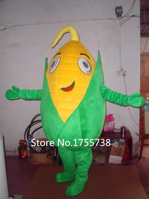 Costume de mascotte de maïs costume de mascotte de plante personnalisée pour adultes à vendre expédition rapide