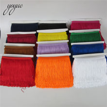 YOYUE 100% polyester 10 yards 15 cm wide tassel lace fringe trim diy fringes for clothes sewing fringed craft 31 colors