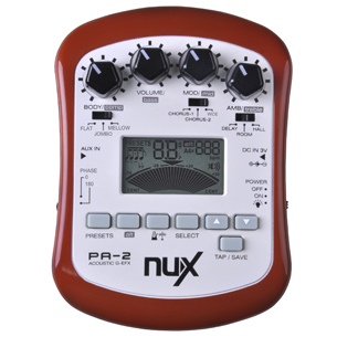 NUX PA-2 Portable Acoustic Guitar Effects Processor High Quality Free Shipping wavelets processor
