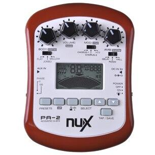 NUX pa-2 Портативный акустической Гитары процессор эффектов Высокое качество Бесплатная доставка