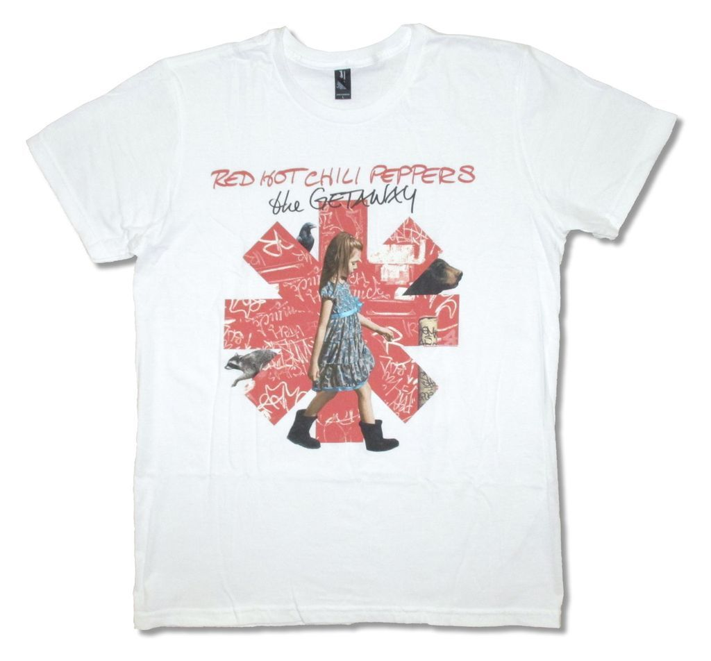 Red Hot Chili Peppers The Getaway Girl Asterisk Image White T Shirt New Adult