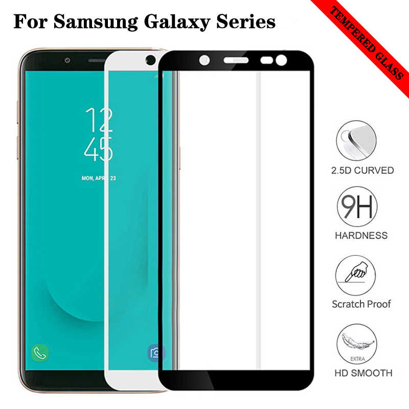 Tempered Glass For Samsung J6 Plus J4Plus Screen Protector on the For Samsun Galaxy J4 J6 J8 J2 Pro J3 2018 Protection Film Glas