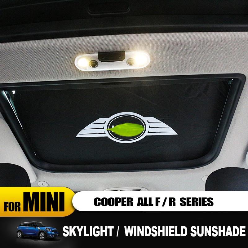 For Mini Cooper All Series Car-styling Sun Shade National Flag Design Heat Insulation Car Sunshade F55 F56 F54 R60 R52 F54 R55