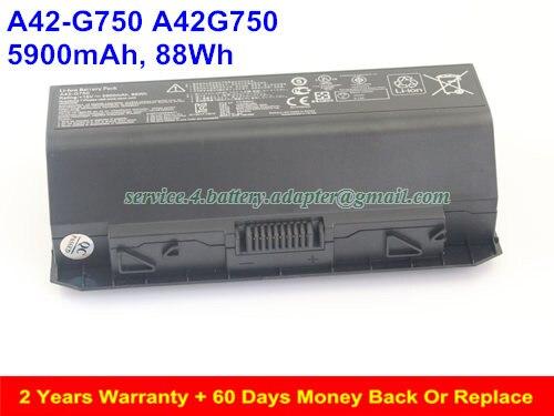 15V 5900mAh A42-G750 A42G750 Battery For Asus G750 ROG G750 G750JH G750JM G750JW G750JX G750JZ Laptop Battery