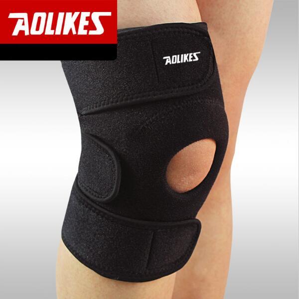 AOLIKES 1 stücke Verstellbare Sport Knie Pads Fußball Basketball Volleyball Bein Knie Unterstützung Klammer Patella Schutz Protector Pads