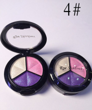 1Pcs Pro Dropshipping 3 Mixed Colors Women Comestic Eyeshadow Long Lasting Makeup Eye Shadow BO