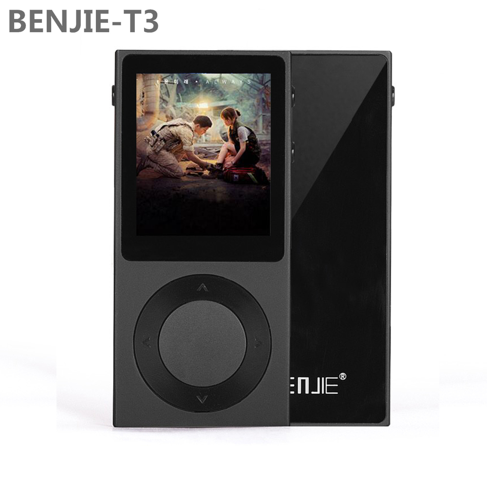 2017 Newest Original BENJIE T3 Full Zinc Alloy Lossless HiFi MP3 Music Player 1.8Inch TFT Screen Support DSD /Bluetooth/ AUX