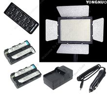 Free Shipping!!2X NP-F550 Batteries+YONGNUO YN600 PRO LED VIDEO LIGHT  camera flash FOR DSLR CAMERA CAMCORDER W/ DC INPUT