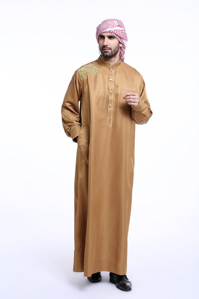674d8ffeb De moda blanco para hombre thobe árabe hombre vestido hombres islámicos  Arabia Saudita ropa BTH804