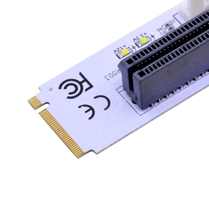 Image 4 - CHIPAL carte Riser NGFF M.2 vers PCIe 4X, adaptateur avec clé M2 M vers PCIe X4, avec indicateur de tension de LED, pour ETH Bitcoin mines