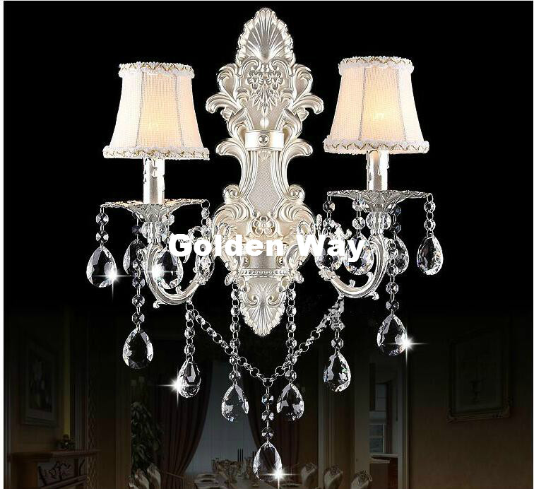 European Golden/Silver Wall Lamp Decora Bronze Wall Sconce Interior Wall Lights Decorative E14 Wall Sconces For Bedroom Lighting cka1006 christmas tree snowflake pattern bedroom wall decorative sticker red golden white