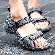 купить Man Beach Sandals 2018 Summer Shoes Gladiator Men's Sandals Roman Men Casual Shoe Flip Flops Large Size 46 Flat Sandals Fashion по цене 1249.31 рублей