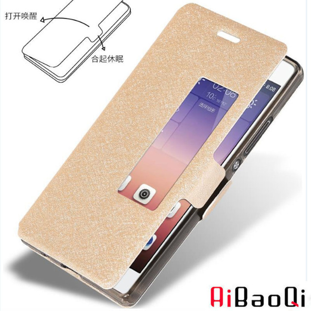 AIBAOQI Luxury Brand For Huawei P10plus Case Cover Flip Leather With Smart View Window Protection Shell huawei P10 Plus Holster