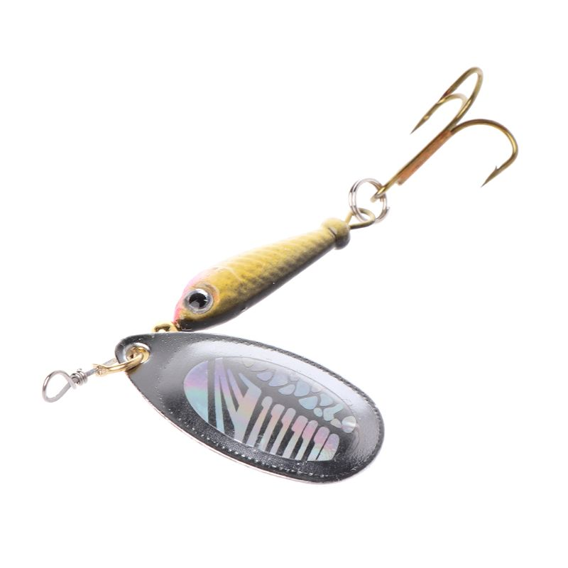 Fishing Bait Metal Sequin Treble Hook Artificial Lure Hard Baits Rotate Jigging Crankbait Carp Fishing Tackle Accessories(China)
