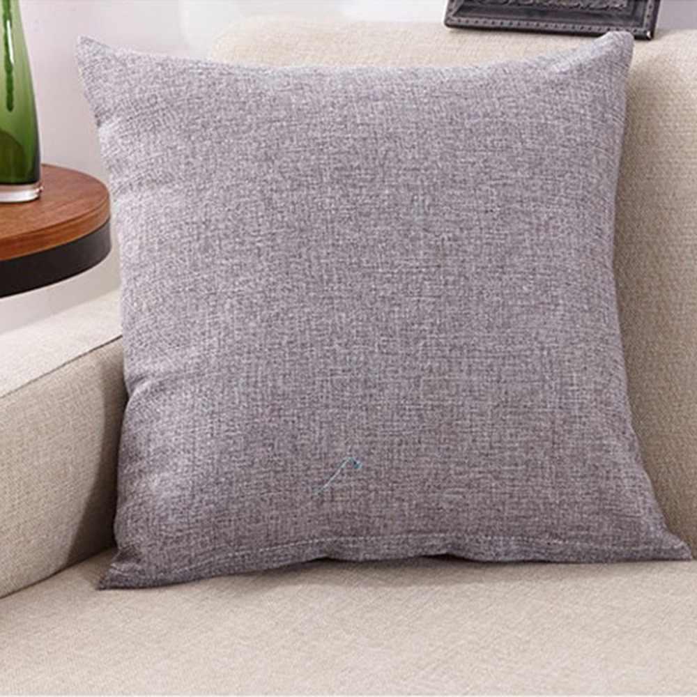 40x40 ซม.โซฟารถหมอน Cushion Soft Linening เอวหมอน Anti-Slip ห้องนอนโซฟาเบาะสำหรับรถบ้านใช้