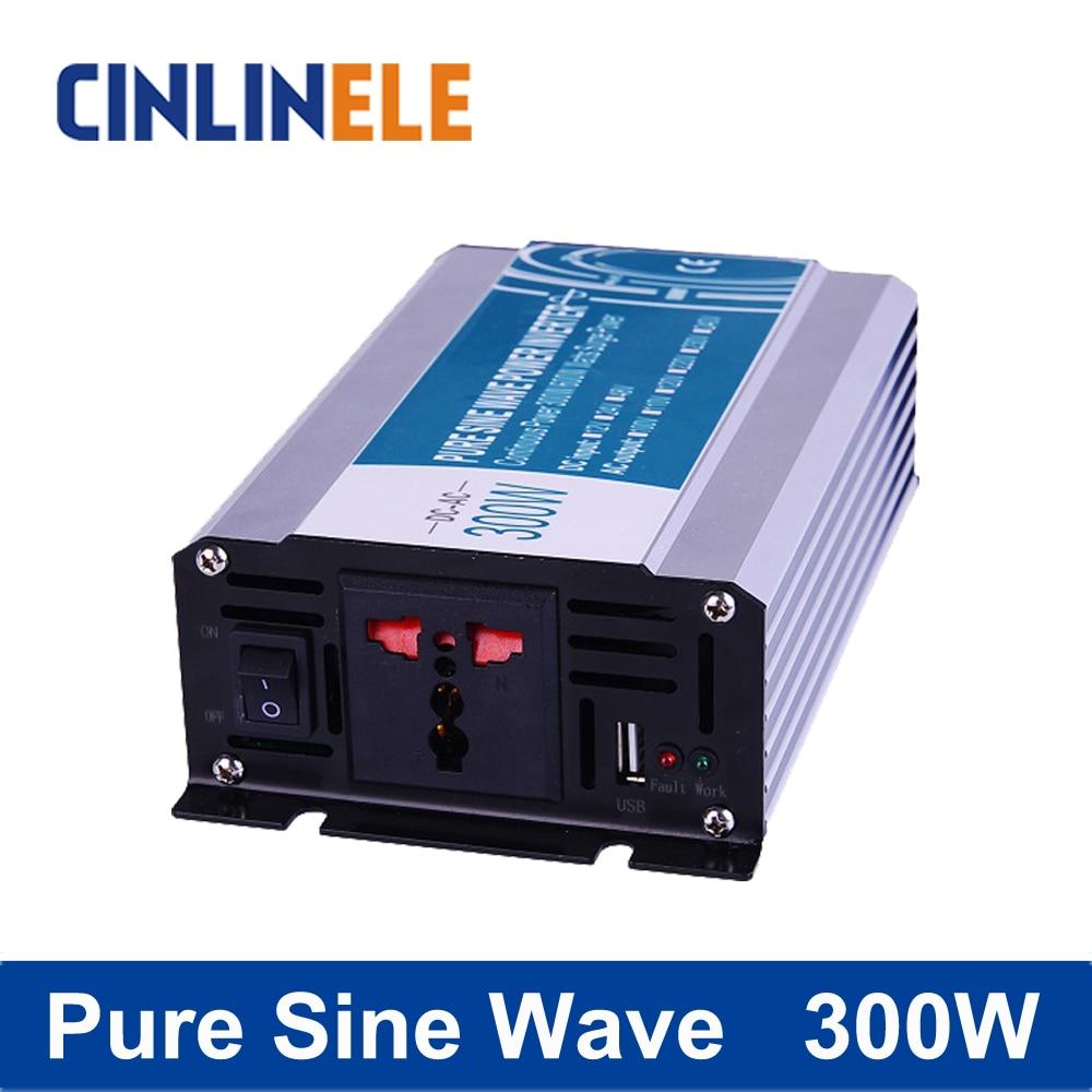 Pure Sine Wave Inverter 300W CLP300A DC 12V 24V 48V to AC 110V 220V Smart Series Solar Power Off grid 300W Surge Power 600W