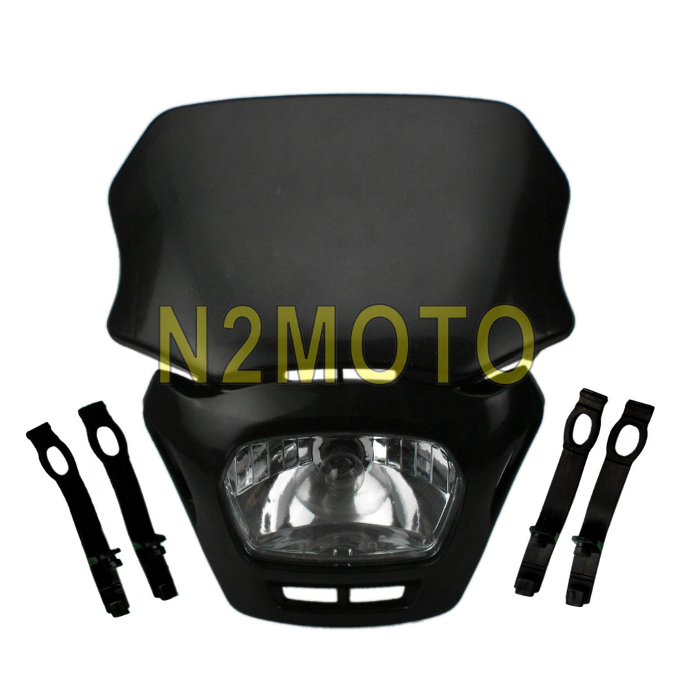 Dirtbike White Front Motorcycle Headlight Enduro Road Legal For Ktm Street Fighter Wire Diagram Black Head Lamp Off Dirt Bike Mx Crf