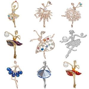 Gymnastics Girl Brooches for Women Cute Enamel Pin Bijouterie High Quality Corsage Fashion Wedding Bride Jewelry