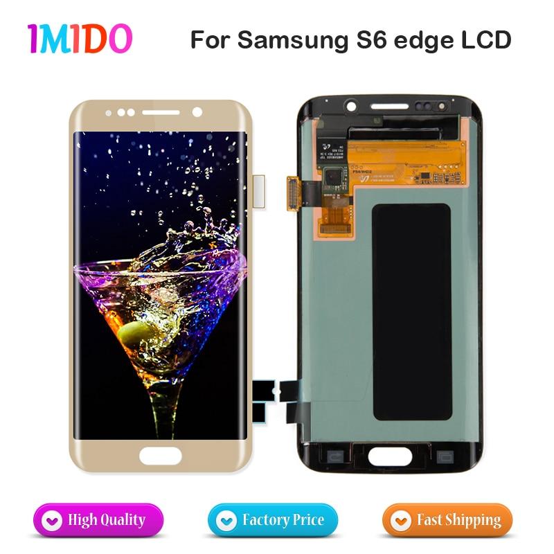 100% Super Amoled для Samsung Galaxy S6 Edge G925I G925F ЖК дисплей Сенсорный экран планшета Ассамблеи Замена без битых пикселей