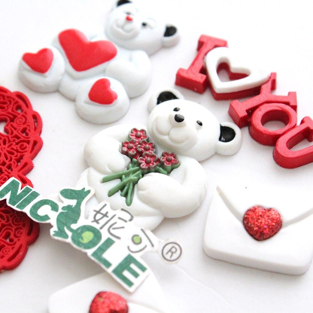 Valentinstag Geschenk Silikonform Fondant Kuchen Dekorieren