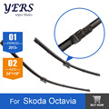 """Limpiaparabrisas cuchillas para Skoda Octavia (desde 2013 en adelante) 24 """"+ 19"""" fit botón tipo de limpiaparabrisas armas sólo HY-075"""