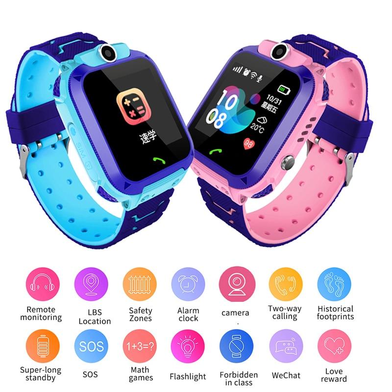 BANGWEI Anti Verloren OLED Tipo GPS Tracker SOS Smart Überwachung Gps-positionierung Telefon Kinder GPS Bambino Uhr Kompatibel IOS