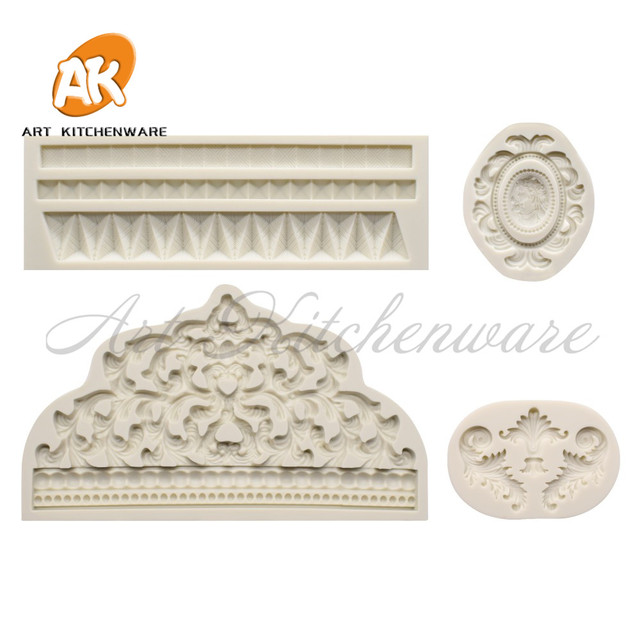 Crown and Relief Mold Fondant Impression Flower Mould Cake Decorating Tool Sugarcraft Cake Molds Baking Accessories Bakeware