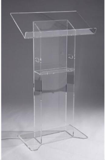 Acrylic Desktop / Acrylic Church Lectern Stand Church Podium Organic Glass Church Pulpit