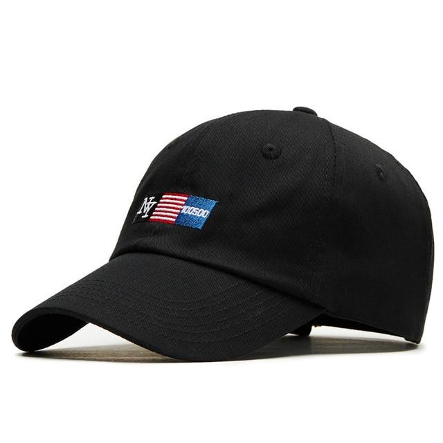 536c9ab5 Fashion New York Washed Adjustable Solid Baseball Cap Unisex Couple Cap  Leisure Dad Hat Snapback Cap Cotton Female Male