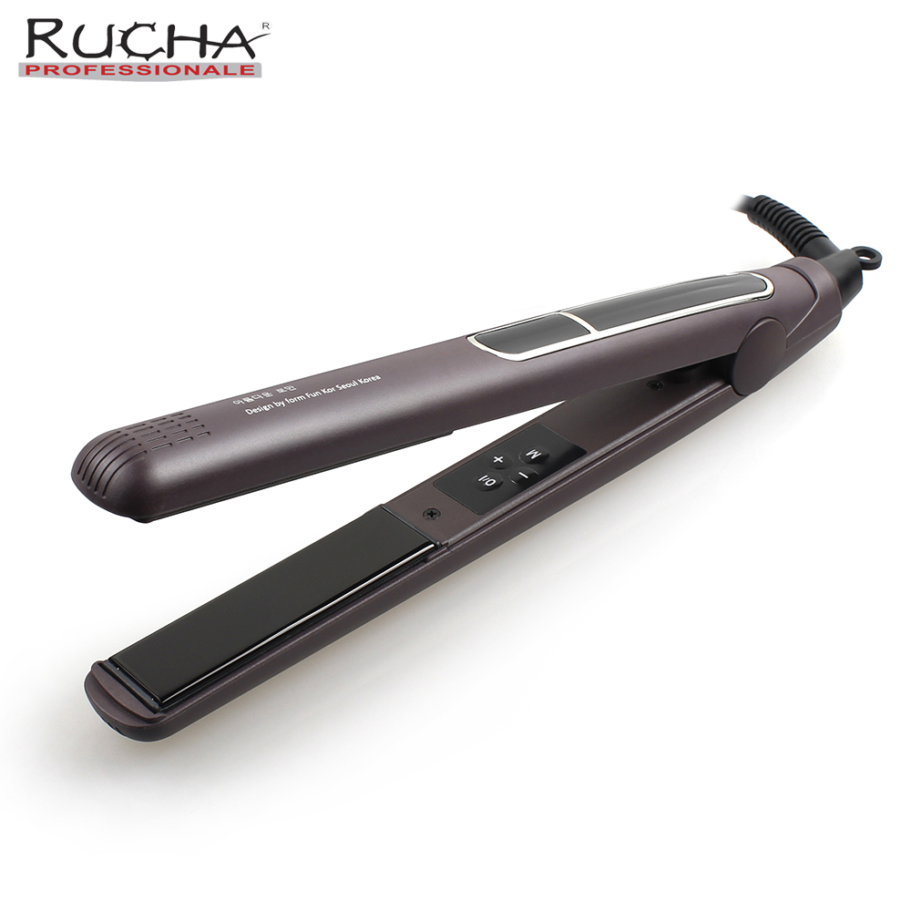 RUCHA Ceramic Iron Electric Hair Flat Iron Hair Straightener 445F MCH Professional LCD Digital chapinha para cabelo 220VRUCHA Ceramic Iron Electric Hair Flat Iron Hair Straightener 445F MCH Professional LCD Digital chapinha para cabelo 220V
