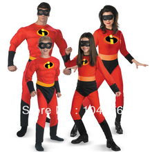 The Incredible Faminly kostum Spandex halloween Party Cosplay Catsuit Superhero paty Zentai Suit dewasa dan anak-anak 4 buah Custom