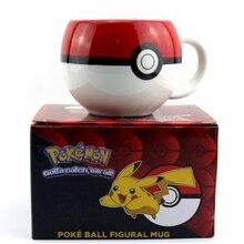 Новинка 320 мл кофейная кружка Pokemon Go Poke Ball Pikachu, Мультяшные кружки для игр в стиле аниме, керамическая рукоятка для детей, лучшие рождественские подарки