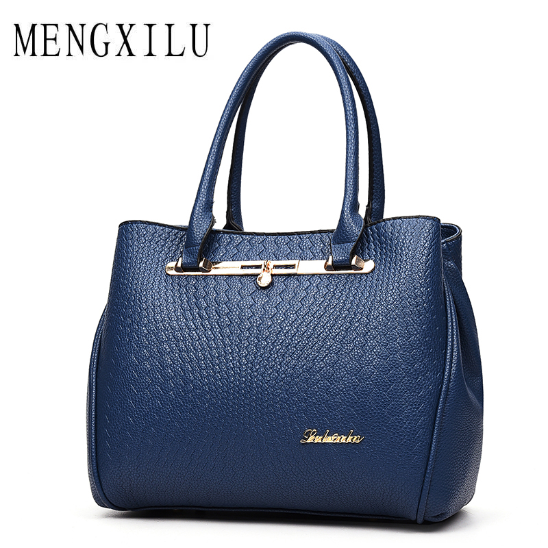 MENGXILU Fashion Women PU Leather Shoulder Bags Ladies Letter Crossbody Bag Brand Luxury Handbags Women Bags Designer Sac A Main new 2017 fashion women pu leather shoulder bags ladies patent crossbody bag brand luxury handbags women bags designer sac a main