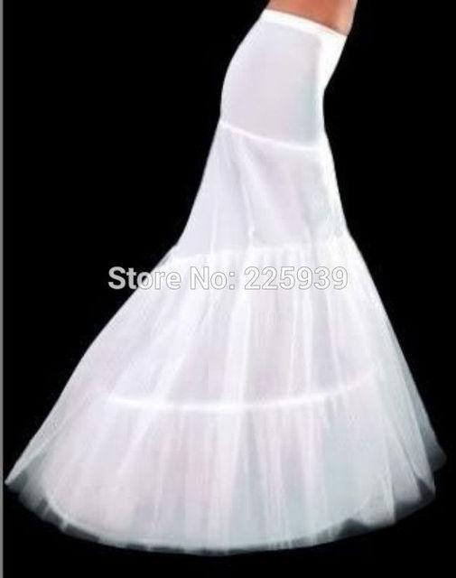 Hot Sale 3 Hoops Long Mermaid Wedding Bridal Petticoats Slip Underskirt Crinoline Wedding Accessories For Wedding Dresses