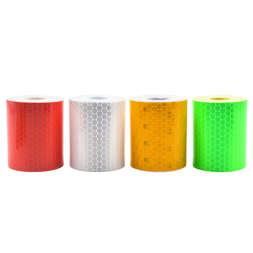 Safety Reflective Warning lighting Sticker Adhesive Tape Roll Strip Reflective Strips Tape Reflecting Reflector Sticker new intensity reflective car sticker double color chequer roll signal pvc workplace safety warning tape