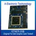 Original Genuine GTX675 Display 2 GB Placa Gráfica Para DELL NVIDIA Placa de Vídeo GPU Substituição Testado Trabalho