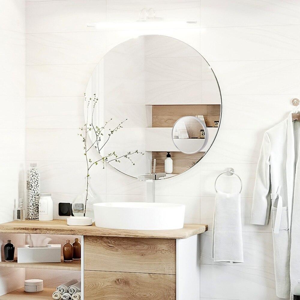ANHO maquillaje espejo giratorio baño 3X espejo tonto giratorio espejo de belleza de doble cara de espejo de baño de maquillaje