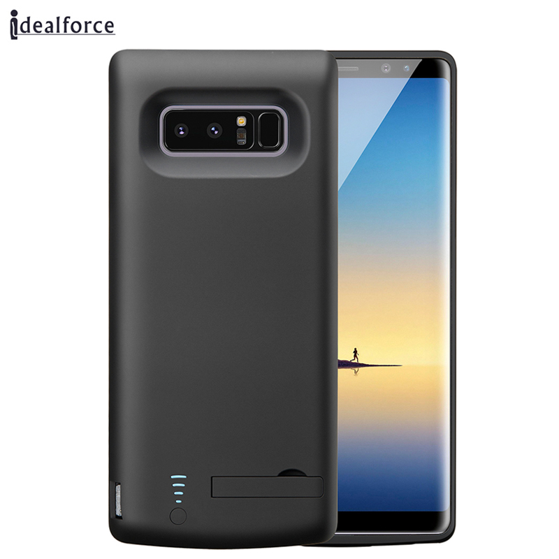 Power Case For Samsung Note 8 6500mAh Portable Battery Bank Charger Support holder cover cases / with type c cable