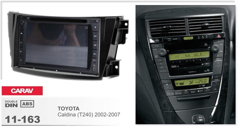 Navirider Android 8.0 radio tape recorder octa Core 4GB RAM 32GB rom (frame+DVD series) fit for Toyota caldina(T240) 2002-2007