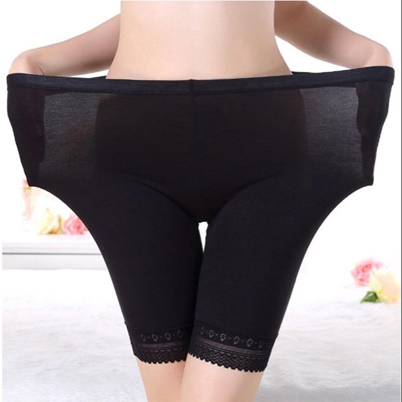 Safety Short Pants Women Soft Cotton Seamless Short Pants Plus Size Summer Under Shorts Modal Lace Breathable Short Tights