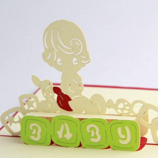 qubiclife cube life 3d newborn baby stereo cards handmade custom