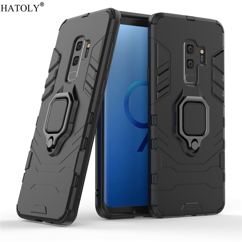 For Samsung Galaxy S9 Plus Case Cover for Samsung Galaxy S9 Plus Finger Ring Phone Case PC Armor Case For Samsung Galaxy S9 Plus