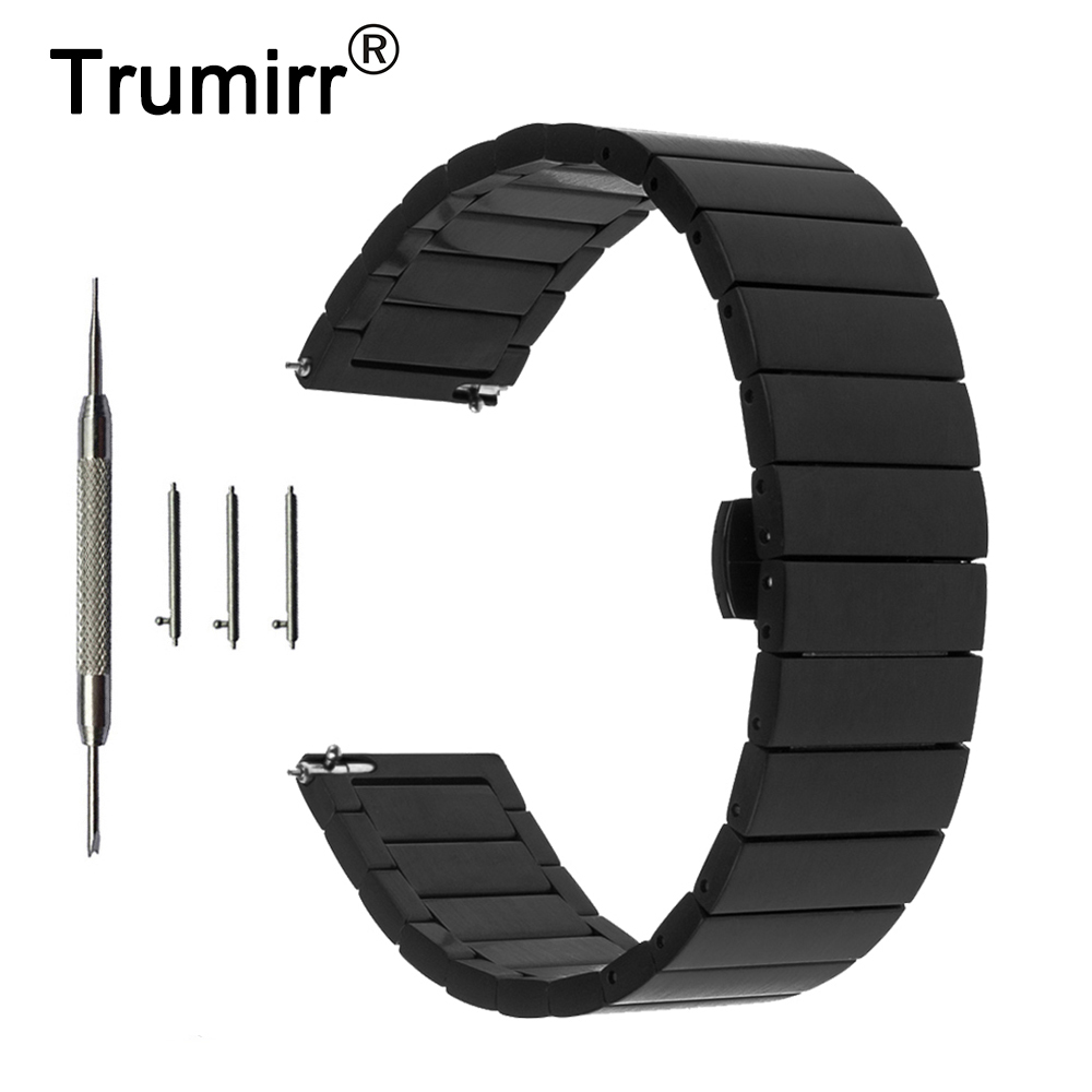 20mm Stainless Steel Watchband + Quick Release Pins for IWC Watch Band Wrist Strap Butterfly Buckle Belt Bracelet Black Silver survival bracelet hand ring strap weave paracord buckle emergency quick release for outdoors
