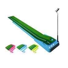 CRESTGOLF Upgrade Indoor Golf Putter Trainer Practice Set Training Mats Greens