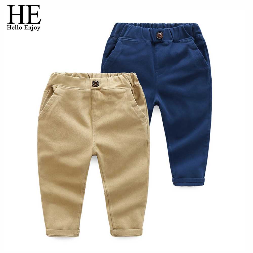 HE Hello Enjoy kids Bottoms Children Pants Boys Casual Autumn Solid Trousers Baby Boy Clothes Spring Toddler Harem Pants