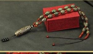 Image 5 - Arsun مجوهرات التبت dzi الخرز قلادة حجر التبت المجوهرات الحقيقي الرجال قلادة شحن مجاني